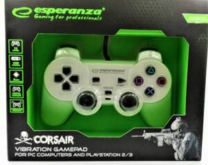 Ovladač Corsair Esperanza GX500 (PC/PS2/PS3) bílý