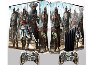 Xbox 360 Slim polep Assassins Creed Black Flag na palubě