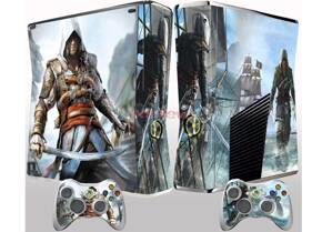 Xbox 360 Slim polep Assassins Creed Black Flag