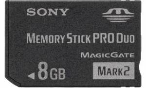 Sony Memory Stick PRO DUO 8GB Mark2