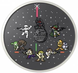 Placka Star Wars 8-bit